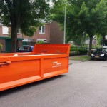 Container voor het afvoeren van puin