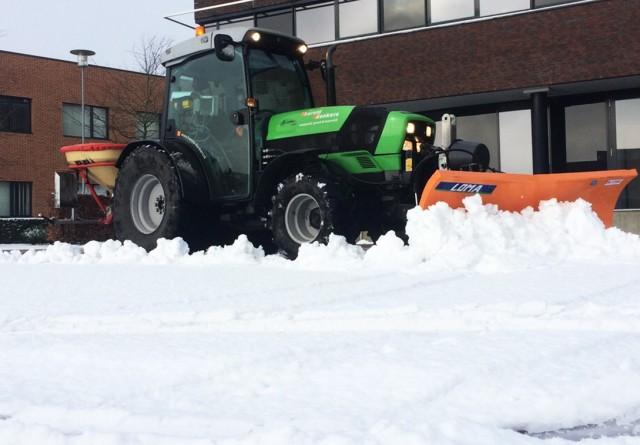 Sneeuwvrij maken bedrijventerrein Weert
